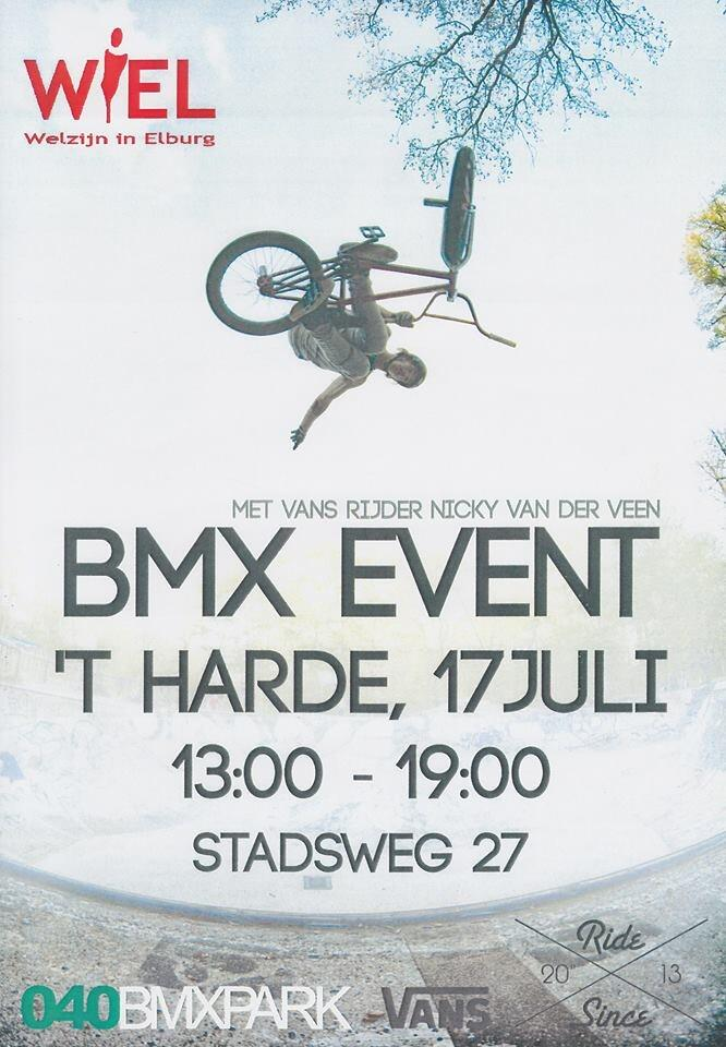 Stichting WIEL organiseert een BMX event in 't Harde.