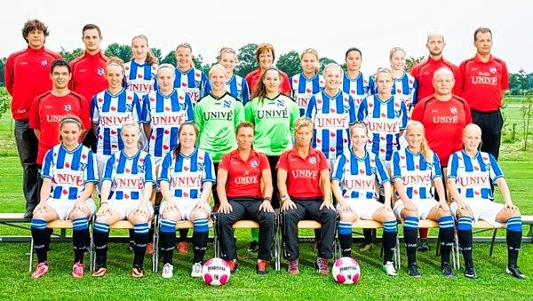 Voetbaldames Heerenveen spelen in 't Harde