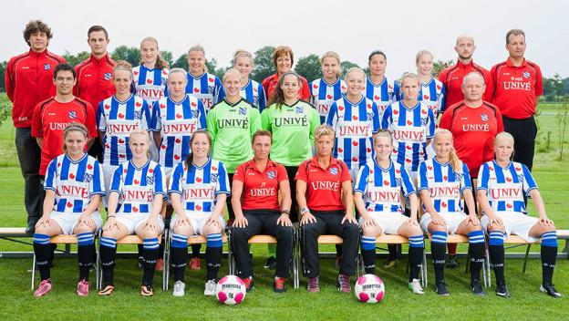 SV 't Harde A1 thuis tegen Heerenveen dames 1
