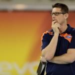 01-06-2014 NED: WLV Nederland - Zuid Korea, Eindhoven Coach Edwin Benne